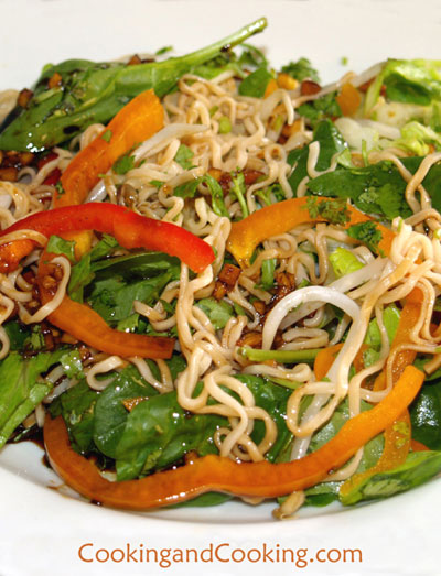 Asian Noodle Salad Recipe, Asian Salad Recipe, Simple Salads | Cooking ...