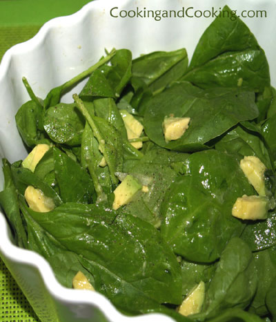 Avocado Spinach Salad Recipe, Vegetarian Recipe | Cooking and Cooking
