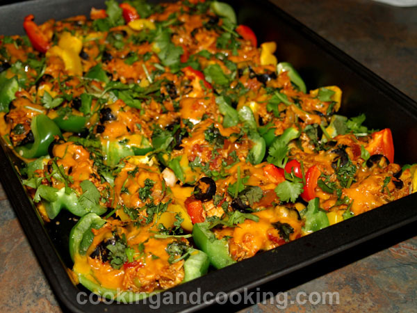 Bell Pepper Chicken Nachos