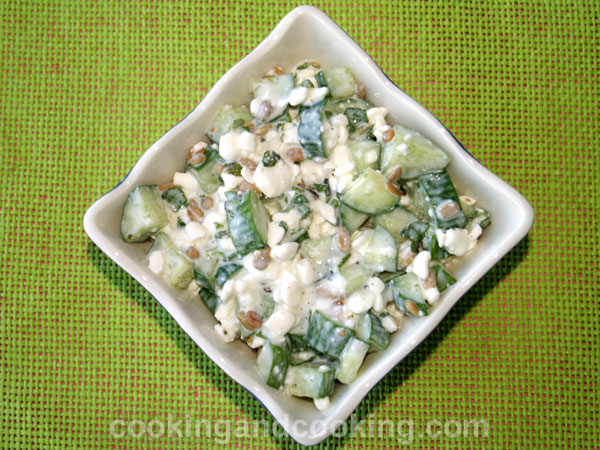 Cucumber Cottage Cheese Salad