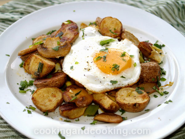 Egg Potato and Mushroom Hash