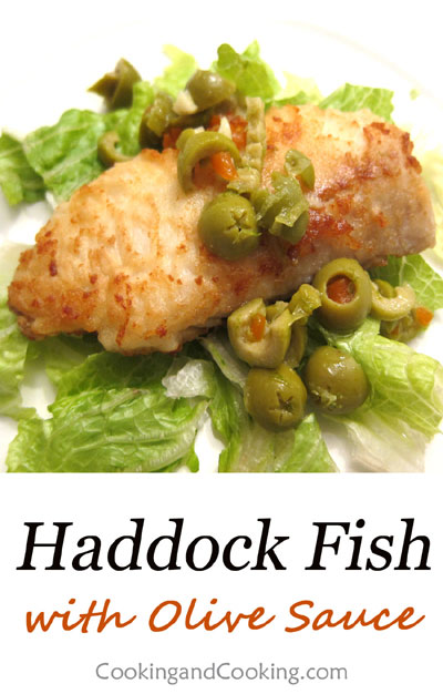 Haddock-with-Olive-Sauce
