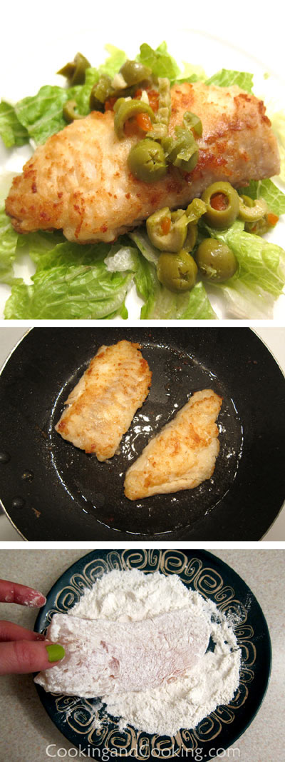 Haddock with Olive Sauce