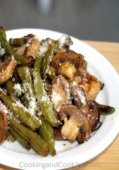 Roasted-Green-Beans-and-Mushrooms
