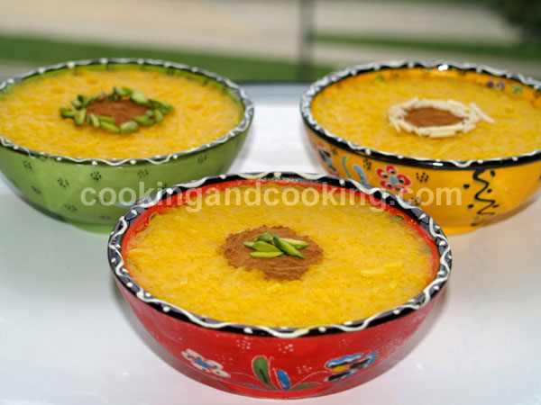 Sholeh Zard, Saffron Rice Pudding