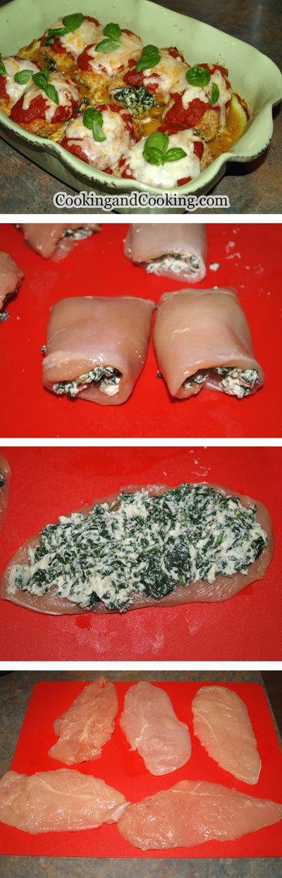Spinach Chicken Roll