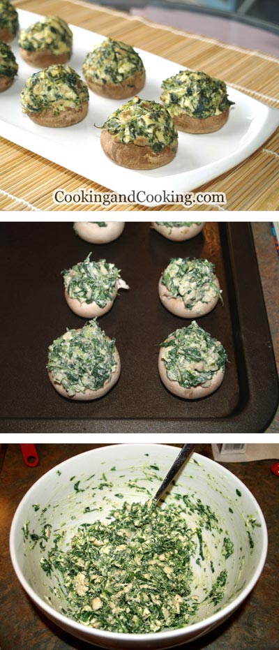 Spinach Stuffed Mushrooms Recipe, Easy Appetizer Ideas | Cooking and ...