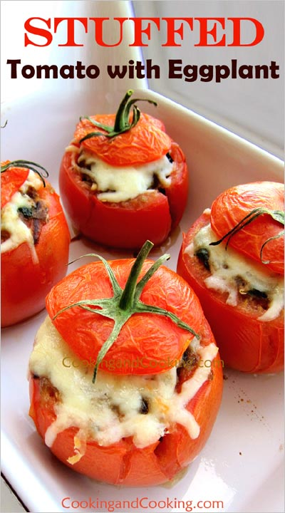 Stuffed Tomato with Eggplant